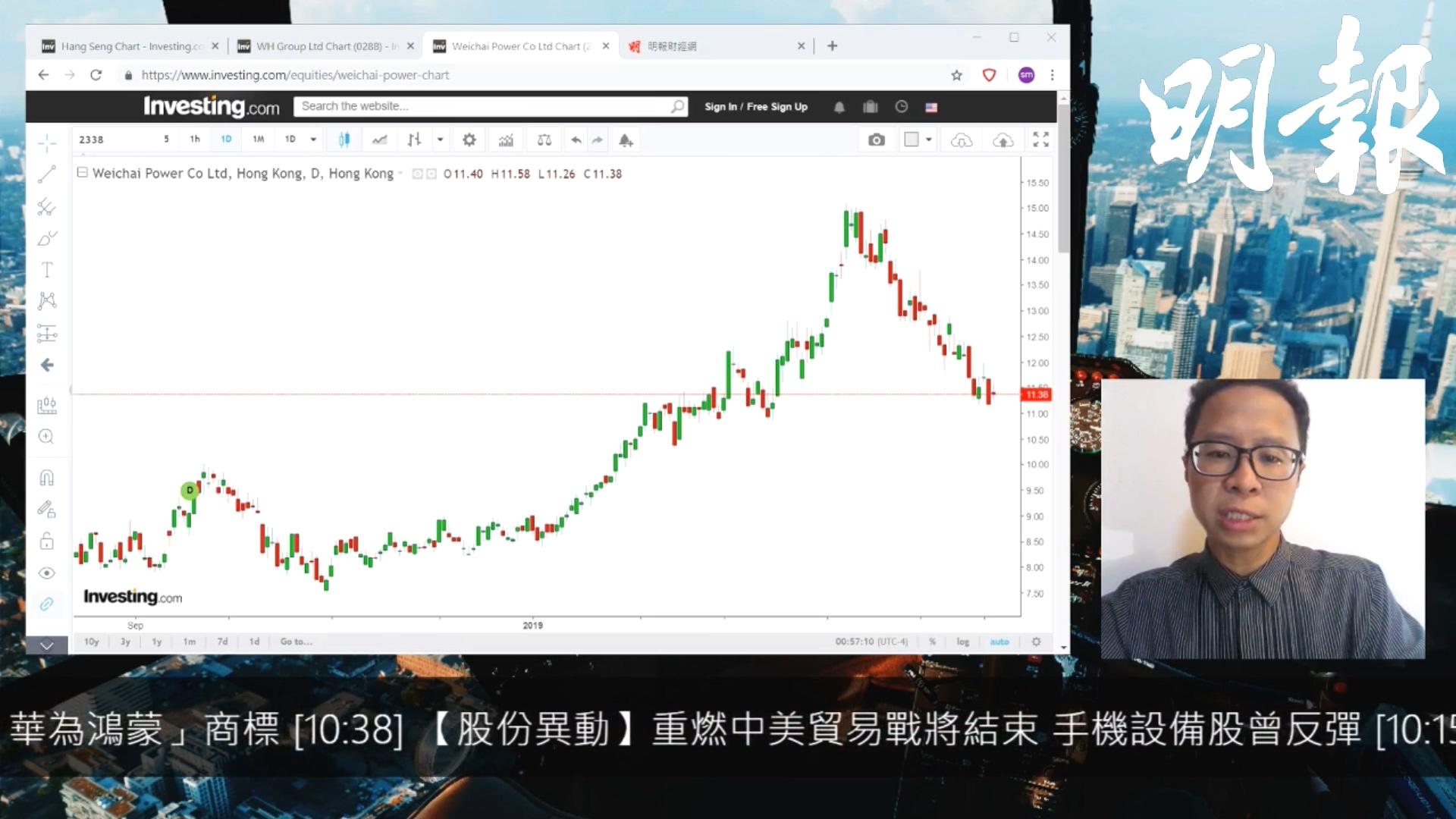 【有片:選股王】濰柴控制成本得宜 11元見支持
