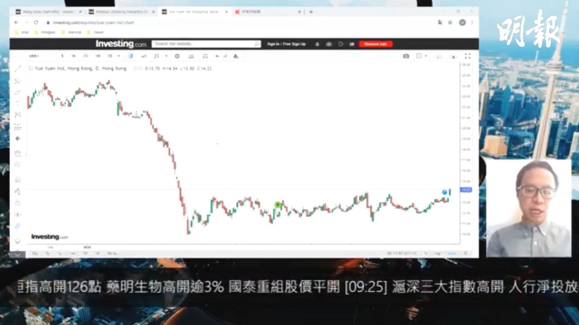 【有片:選股王】內地出口表現理想 裕元升破半年橫行區