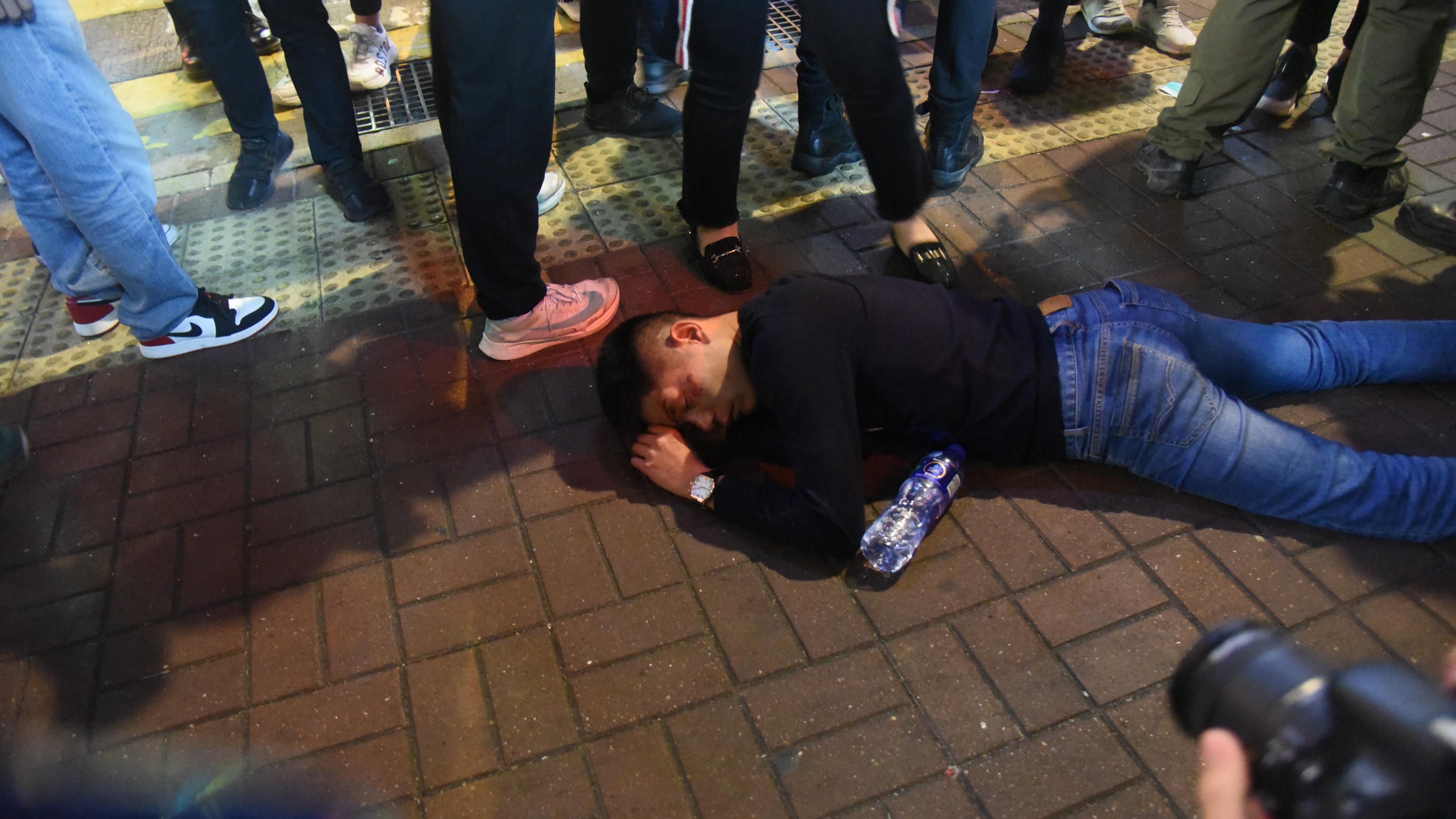 男子旺角被指非禮遭「私了」 (拍攝:蔡方山、剪接:林欣澤)