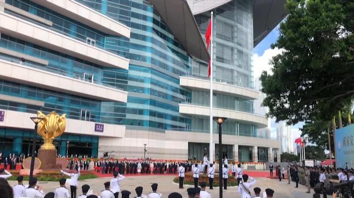 七一升旗儀式(拍攝:張彤)