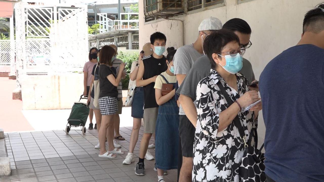民主派初選 多區票站出現人龍(攝影、剪接:劉澤浩)