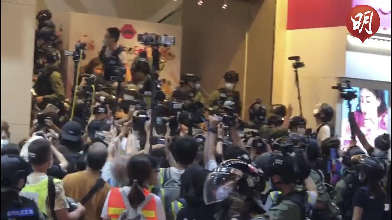 十一遊行|銅鑼灣大批警員戒備 百德新街拘捕逾60人涉非法集結【短片】